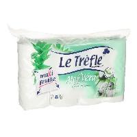 Papiers LE TREFLE Papier toilette Aloe Vera x8