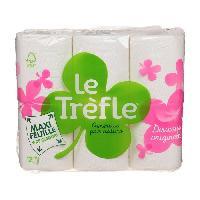 Papiers LE TREFLE Papier toilette Maxi Feuille - 12 Rouleaux