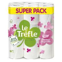 Papiers LE TREFLE Papier toilette Maxi Feuille Douceur Originelle x18