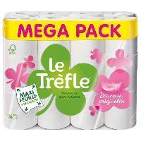 Papiers LE TREFLE Papier toilette Maxi Feuille Douceur Originelle x24