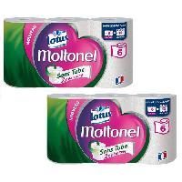 Papiers LOTUS Papier toilette Moltonel - Sans tube - 3 épaisseurs - 6 rouleaux - Blanc