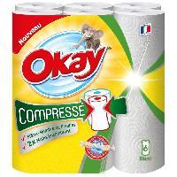 Papiers OKAY Compresse blanc - 6 rouleaux