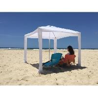 Parasol - Voile D Ombrage - Accessoire Tente Plage Cabana. avec son sac de transport - Blanc