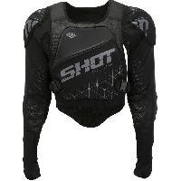 Pare-pierre - Bodystunt - Plastron SHOT Gilet de protection ultralight - Noir - XXL 56-58