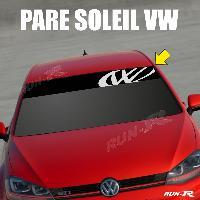Pare-soleil Adhesifs Sticker 895 pare-soleil LOGO VW FUN Up Polo Golf Caddy Scirocco Beetle - Run-R Stickers
