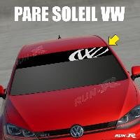 Pare-soleil Adhesifs Sticker 895 pare-soleil LOGO VW FUN Up Polo Golf Caddy Scirocco Beetle Run-R Stickers