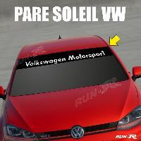 Pare-soleil Adhesifs Sticker 898 pare-soleil VOLKSWAGEN MOTORSPORT Up Polo Golf Caddy Scirocco Beetle