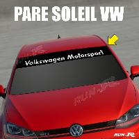 Pare-soleil Adhesifs Sticker 898 pare-soleil pour VW MOTORSPORT Up Polo Golf Caddy Scirocco Beetle - Run-R Stickers
