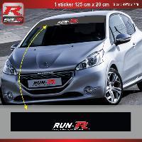 Pare-soleil Adhesifs Sticker pare-soleil Run-R 009PN Racing 125x20cm