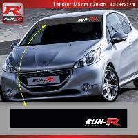 Pare-soleil Adhesifs Sticker pare-soleil Run-R 00BM Racing 125x20cm