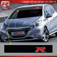 Pare-soleil Adhesifs Sticker pare-soleil Run-R 00BN Racing 125x20cm