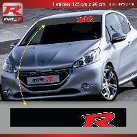 Pare-soleil Adhesifs Sticker pare-soleil Run-R 00BP Red Racing 125x20cm