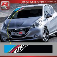 Pare-soleil Adhesifs Sticker pare-soleil Run-R 00BQ PS Color 125x20cm pour Peugeot - Run-R Stickers