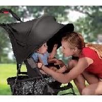 Pare-soleil Bebe - Canopy Visiere pour Poussette Noir