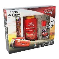Parfum CORINE DE FARME Coffret Cars eau de toilette 50 ml + gel douche 2en1 250 ml + 1 coloriage + 6 crayons de couleurs