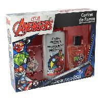 Parfum Coffret Avengers eau de toilette 50 ml + gel douche 2en1 250 ml + 1 porte-cles + 1 marque-pages
