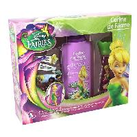 Parfum Coffret Fee Clochette eau de toilette 30 ml + gel douche 250 ml + set de 2 barrettes et bracelet + 1 marque-pages