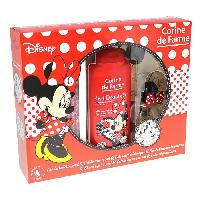 Parfum Coffret Minnie eau de toilette 30 ml + gel douche 2en1 250 ml + 1 coloriage + 6 crayons de couleurs