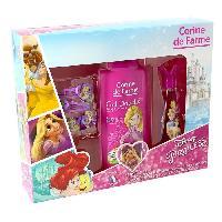 Parfum Coffret Princesses eau de toilette 30 ml + gel douche 250 ml + 1 set de 2 barrettes et bracelet + 1 marque-pages