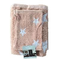 Parure De Bain STAR Set de toilette 100 coton - 2 serviettes + 2 gants rose
