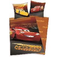 Parure De Couette CARS 3 Parure de couette 100 Coton - 1 Housse de couette 140x200 cm + 1 Taie d'Oreiler 65x65 cm rouge et gris