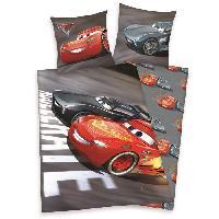 Parure De Couette CARS 3 Parure de couette 100 Coton - 1 housse de couette 140x200cm + 1 taie d'oreiller 65x65cm gris et rouge