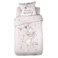 Parure De Couette KIDS Love Princess Housse de Couette 100 Coton - 140x200 cm avec 1 taie 63x63 cm