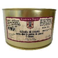 Pate - Terrine - Rillette En Conserve 5 Cuisses de Canard Cuites dans la Graisse de Canard - 1.350 Kg