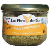 Pate - Terrine - Rillette En Conserve LES PLATS DU GITE Farci Saintongeais - 180 g