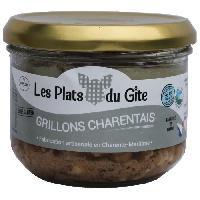 Pate - Terrine - Rillette En Conserve LES PLATS DU GITE Grillons Charentais - 350 g