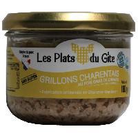 Pate - Terrine - Rillette En Conserve LES PLATS DU GITE Grillons Charentais au Foie Gras de Canard - 180 g