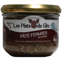 Pate - Terrine - Rillette En Conserve LES PLATS DU GITE Pate Fermier au Cognac - 180 g