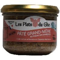 Pate - Terrine - Rillette En Conserve LES PLATS DU GITE Pate Grand-Mere au Pineau des Charentes - 180 g
