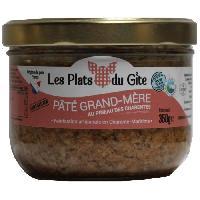 Pate - Terrine - Rillette En Conserve LES PLATS DU GITE Pate Grand-Mere au Pineau des Charentes - 350 g