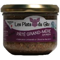 Pate - Terrine - Rillette En Conserve LES PLATS DU GITE Pate Grand-Mere aux Raisins - 180 g