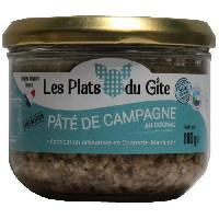 Pate - Terrine - Rillette En Conserve LES PLATS DU GITE Pate de Campagne au Cognac - 180 g