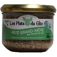 Pate - Terrine - Rillette En Conserve LES PLATS DU GITE Pate de Campagne au Pignons de Pins - 180 g