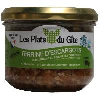 Pate - Terrine - Rillette En Conserve LES PLATS DU GITE Terrine d'Escargots au Pineau des Charentes - 180 g