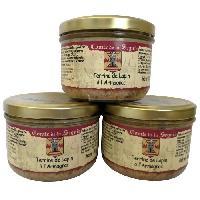 Pate - Terrine - Rillette En Conserve Lapin a l'Armagnac - 3 x 180 g