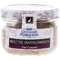 Pate - Terrine - Rillette En Conserve Rillette traditionnelle pur canard - 180 g