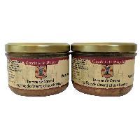 Pate - Terrine - Rillette En Conserve Terrine de Canard au Foie de Canard et Pommes - 2 x 180 g