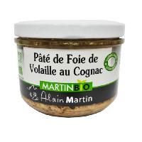 Pate - Terrine - Rillette En Conserve Terrine de foie de volaille BIO 180G