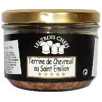 Pate - Terrine - Rillette En Conserve Terrines de Chevreuil au Saint Emilion 3x180g