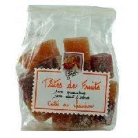 Pate De Fruits Pates de Fruits barre 6 parfums 200g-Abricot-Fraise-Framboise-Cassis-Poire-Rhubarbe-
