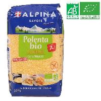 Pates - Riz - Cereales - Legumes Secs ALPINA Polenta express moyenne - Bio - 500g