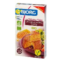 Pates - Riz - Cereales - Legumes Secs BJORG Palets Céréales Lentilles Curry Bio 200g