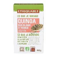 Pates - Riz - Cereales - Legumes Secs ETHIQUABLE Quinoa duo rouge et blanc bio - 400 g