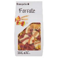 Pates - Riz - Cereales - Legumes Secs FRANPRIX Farfalles Colorees Rayees 200 g
