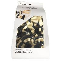 Pates - Riz - Cereales - Legumes Secs FRANPRIX Farfalles Rayees Noir et Blanc 200 g