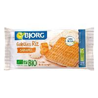 Pates - Riz - Cereales - Legumes Secs Fines Galettes de Riz Caramel Bio 90g